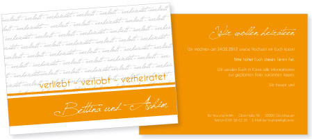 Save-the-Date-Karte Bettina & Achim
