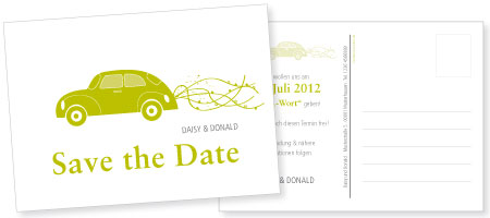 Save-the-Date-Karte Daisy & Donald