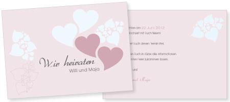Save-the-Date Karte Willi & Maja