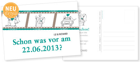 Save-the-Date-Karte Liz & Richard